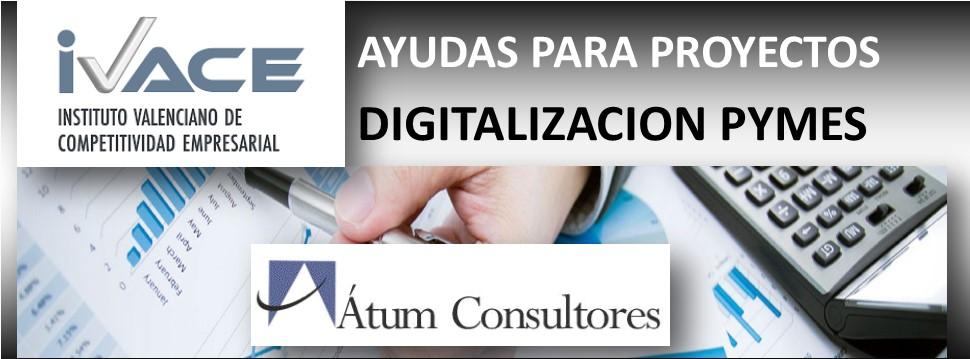 NUEVAS AYUDAS PARA PROYECTOS DE DIGITALIZACIÓN DE PYMES