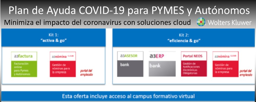 Plan Ayuda de software cloud anti COVID19